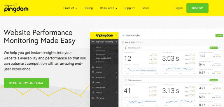 pingdom-vitesse-site-web